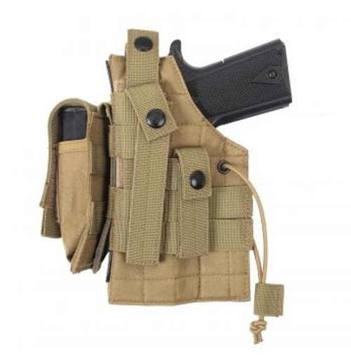 MOLLE Modular Ambidextrous Holster- Coyote Brown from Hessen Antique
