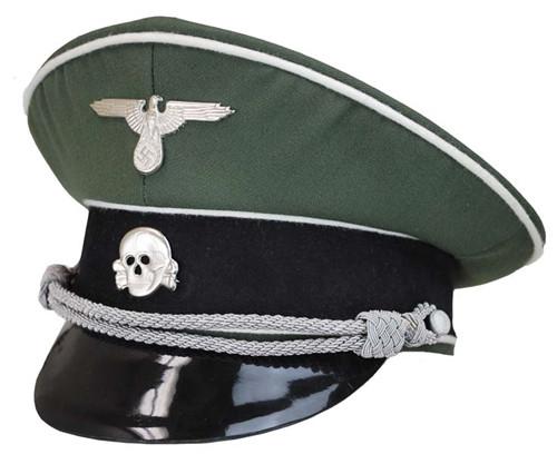 Waffen SS Infantry Officer Visor Cap - Economy from Hessen Antique