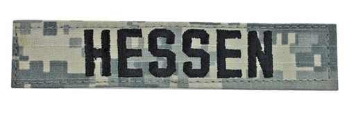 ACU NAME TAPES - With Velcro(r) Tape from Hessen Antique