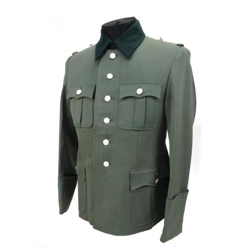 German Officer Dress Tunic in Gabardine Twill from Hessen Antique