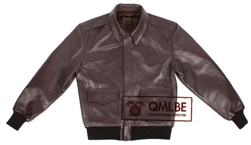 QMI WWII Type A-2 Leather Flight Jacket from Hessen Antique