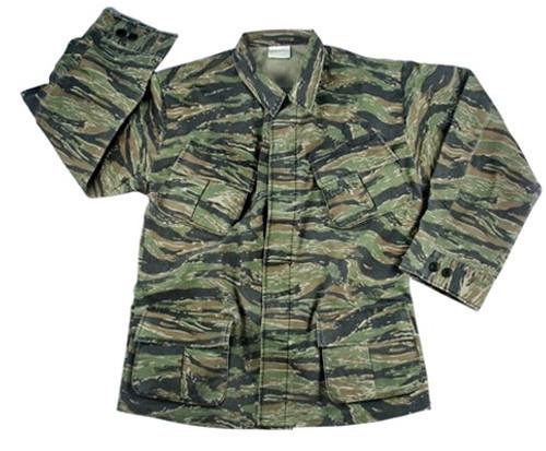 Vietnam Era Tiger Stripe Fatigue Shirt from Hessen Tactical