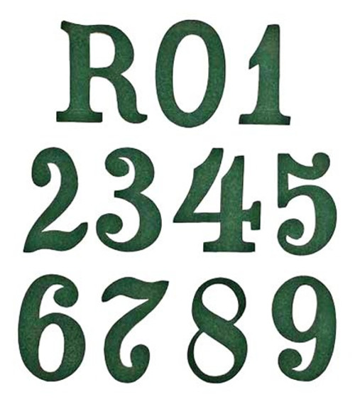 Regimental Number For Pickelhaube Covers - Green