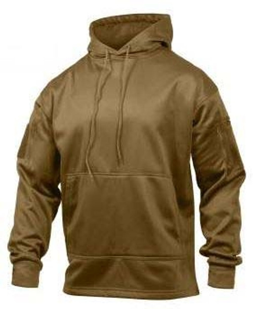 Concealed Carry Hooded Sweatshirt - Coyote Brown from Hessen Surplus