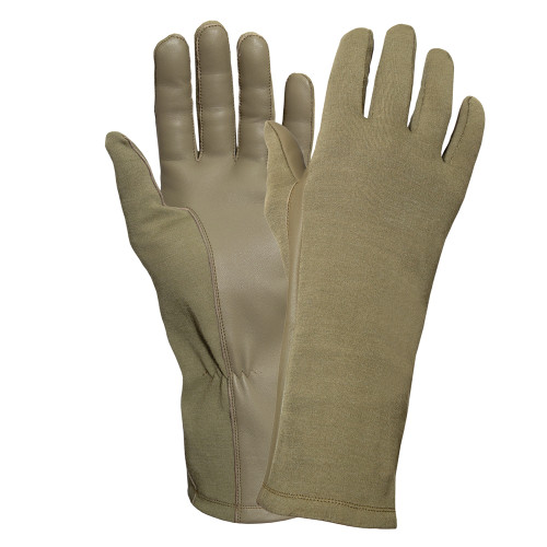 G.I. Type Flame & Heat Resistant Flight Gloves - Coyote from Hessen Antique