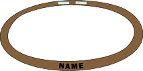 TAN 499 MULTICAM/OCP KEVLAR HELMET BANDS WITH NAME from Hessen Tactical