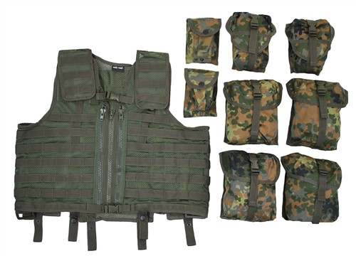 8 Pouch Tactical Vest - Flecktarn from Hessen Antique