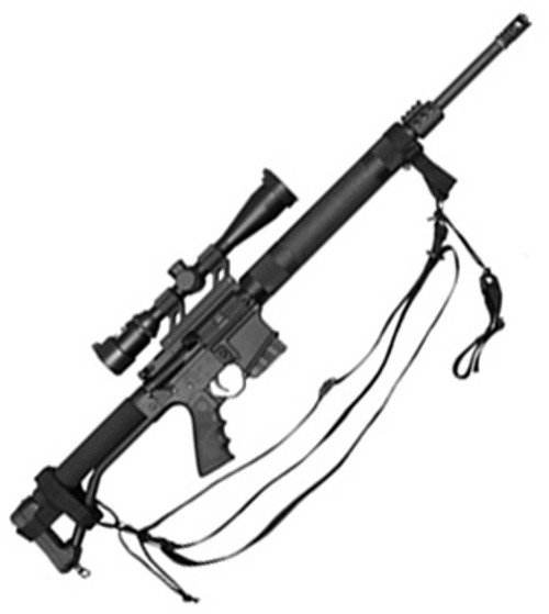 Military Style 3-Point Sling: Black