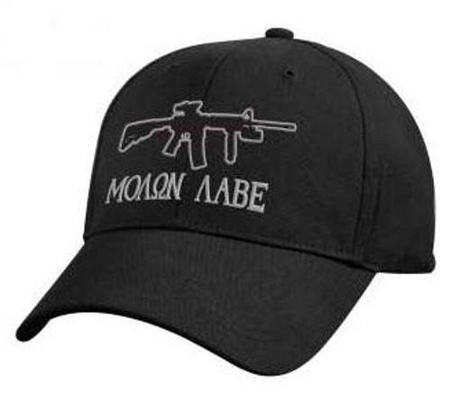 'Molon Labe' Black Deluxe Low Profile Cap from Hessen Antique
