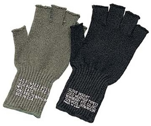 G.I. Fingerless Wool Gloves From Hessen Antique