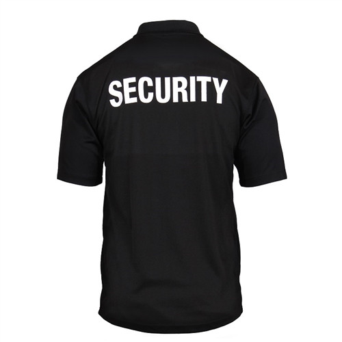 Moisture Wicking Security Polo Shirt With Badge from Hessen Tactical