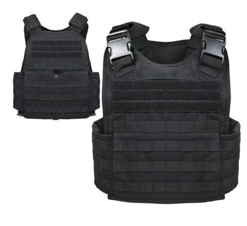 M.O.L.L.E. Plate Carrier Vest - Black
