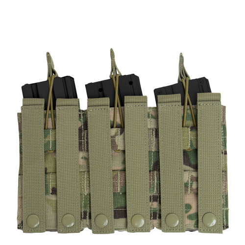 Multicam, MOLLE, Open Top, Triple Mag Pouch,