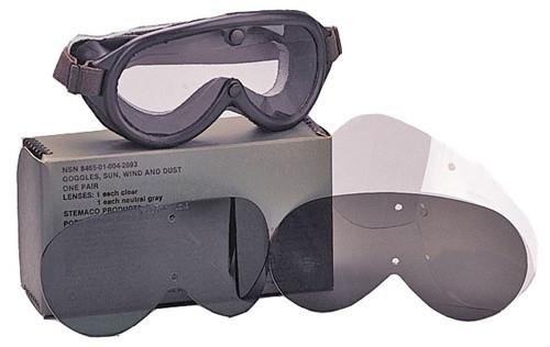 Genuine G.I. Sun, Wind, & Dust Goggles from Hessen Antique