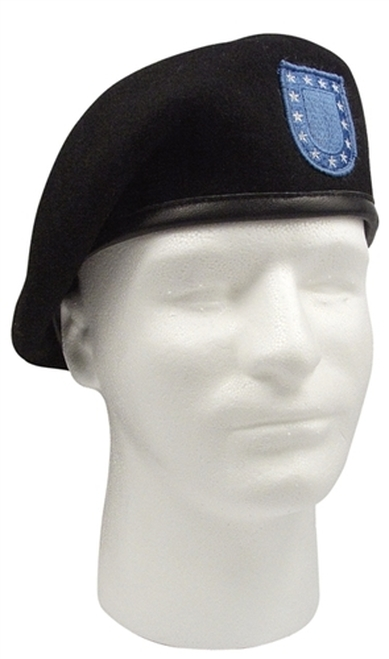 New Army Black Beret imported from Germany,exclusively made for Hessen Tactical.