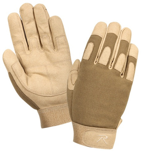 Coyote Brown Lightweight Tactical Gloves from Hessen Antique