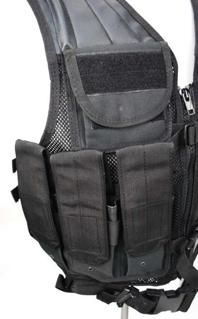 USMC Style Black Combat Vest With Belt from Hessen Antique