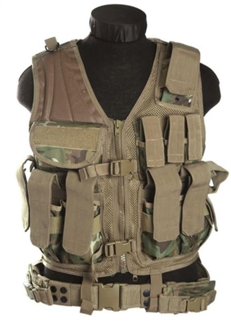 Mil-Tec USMC Gen.II Style Arid/Woodland Camo Combat Vest from Hessen Antique