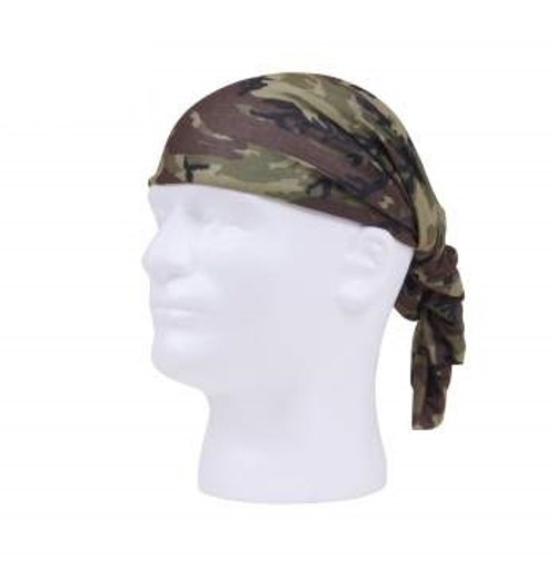 Multi-Functional Headgear -  Woodland Camo from Hessen Antique