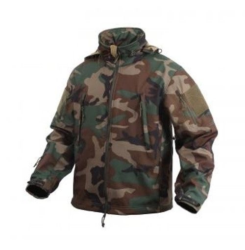 Special Ops Tactical Softshell Jacket - Woodland Camo from Hessen Tactical