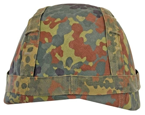 Bundeswehr Flecktarn Helmet Cover from Hessen Antique