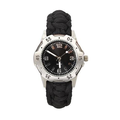 Black Paracord Bracelet Watch from Hessen Militaria