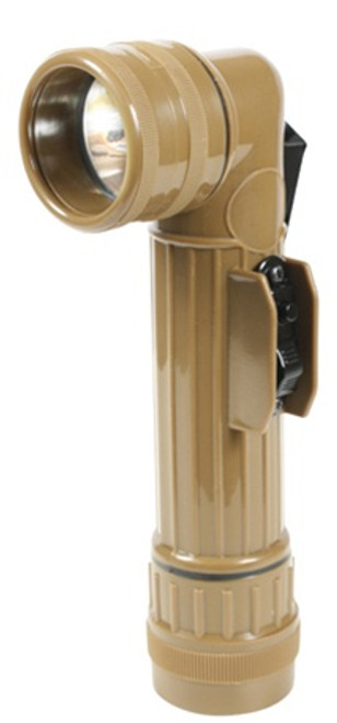 G.I. Type Angle-Head Flashlights: Coyote Brown from Hessen Antique