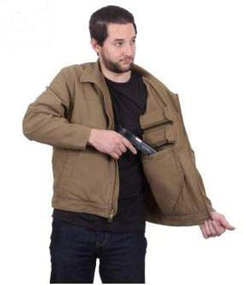 Coyote Brown Lightweight Concealed Carry Jacket from Hessen Surplus