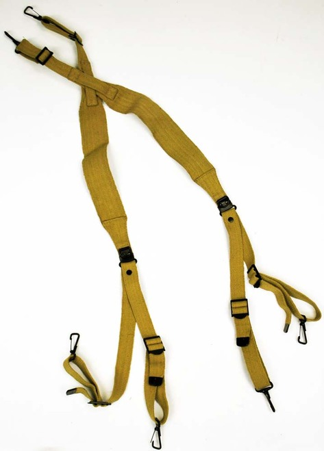 US Repro WWII M36 Khaki Suspenders - Sturm