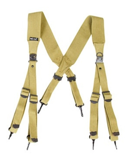 GI M36 Khaki Suspenders from Hessen Antique