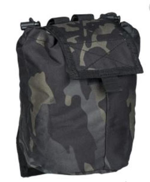 MIL-TEC Multitarn Black Empty Shell Pouch - New