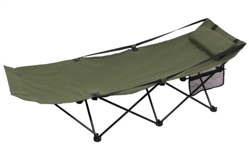 Deluxe Folding Camping Cot from Hessen Antique