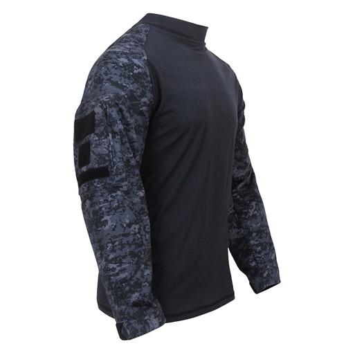 Midnight Digital Camo Combat Shirt from Hessen Tactical