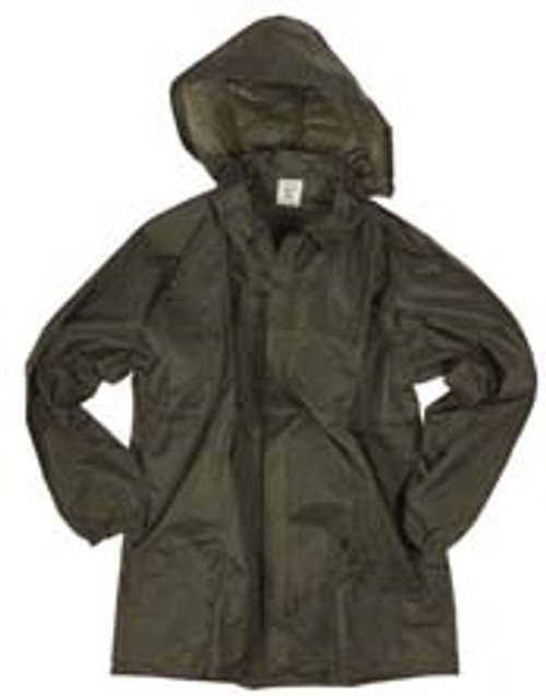 French Army Wet Weather Jacket With Hood - OD