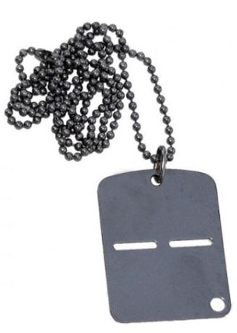 Italian Military Dog Tag With Chain from Hessen Antique