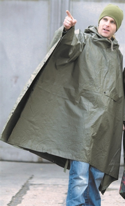 GERMAN OD WET WEATHER BW Poncho from Hessen Surplus