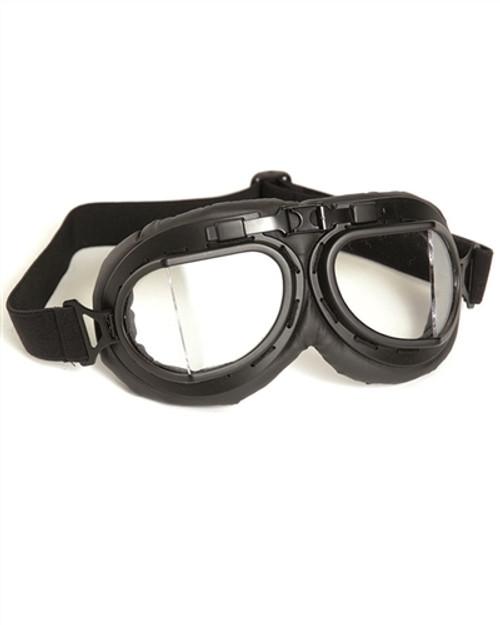 British RAF Style Aviator Goggles - Black