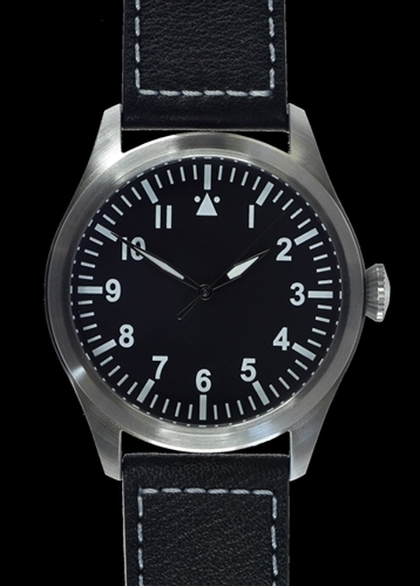 Classic 46mm Limited Edition XL Military Pilots Watch with Sweep Second Hand from Hessen Militaria