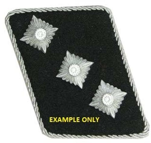SS Collar Tab 12mm Silver Rank Pips