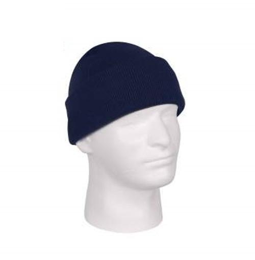 Deluxe Fine Knit Watch Cap- Navy Blue