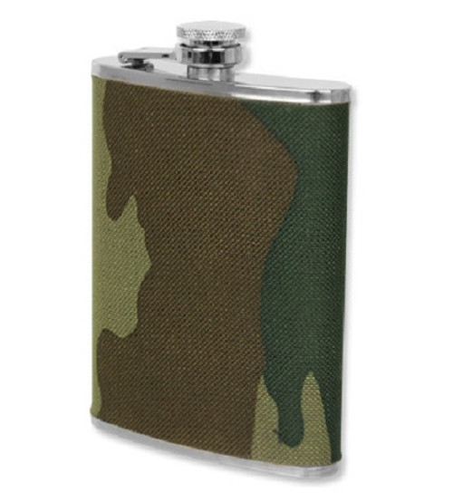 Woodland Camo 8 oz. Flask - New from Hessen Antique