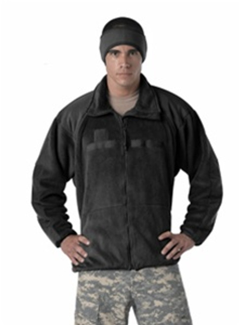 New Black Polar Fleece jacket/liner, extra warm, can be used as liner for the ECWCS parka.  Also authorized for wear as an outergarment by the Army.