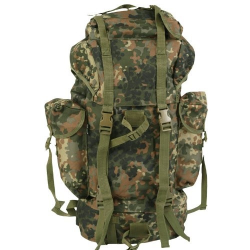 Bw Style Flecktarn Large Combat Rucksack - NEW from Hessen Antique