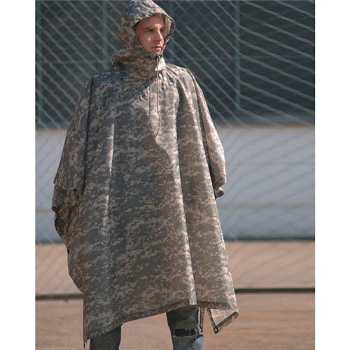 Mil-Tec AT-Digital Camo Wet Weather Poncho - Rip Stop from Hessen Antique