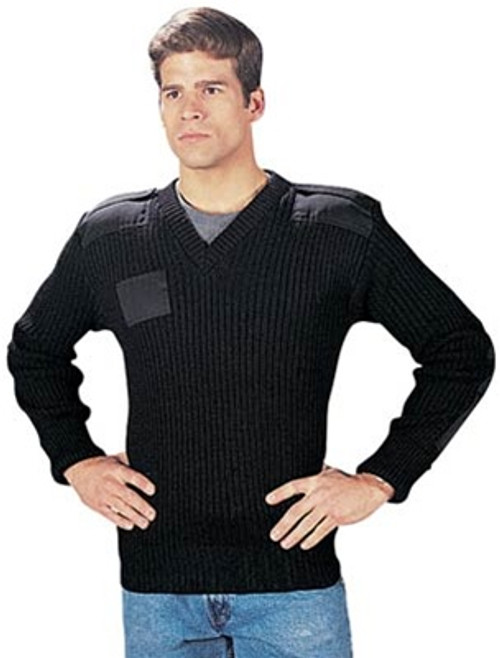 Wool V-Neck Commando Sweater - OD from Hessen Tactical