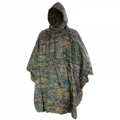 Mil-Tec Digital Woodland Camo Wet Weather Poncho - Rip Stop from Hessen Antique