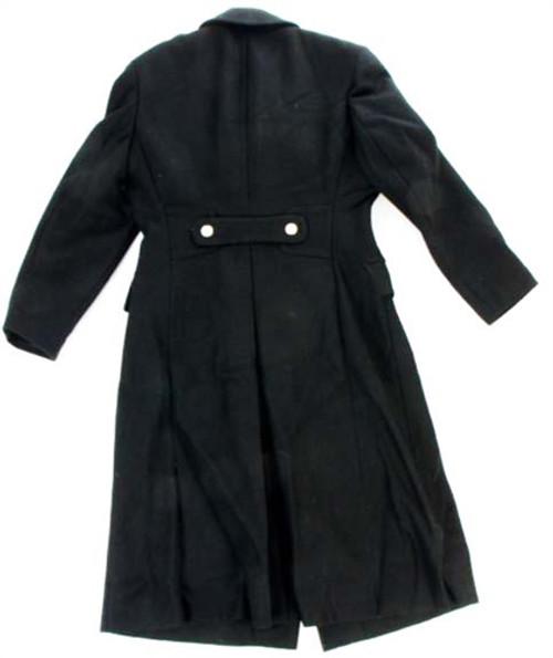 Original Russian Cadet Black Wool Overcoat from Hessen Surplus