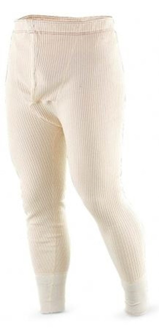 Swedish Off-White Ribbed Long John Pants from Hessen Surplus