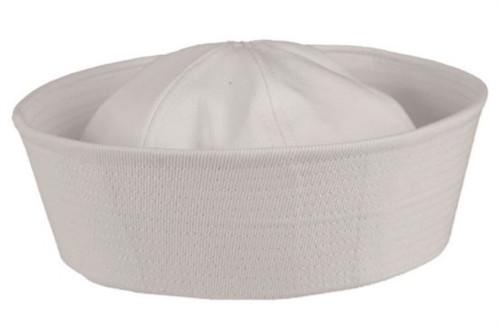 "US Navy ""Dixie Cup"" Style White Sailor Cap"