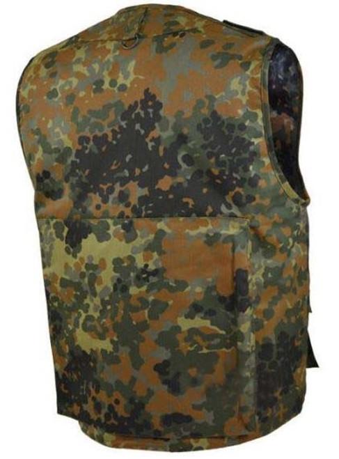 MIL-TEC Flecktarn Camo Fishing/Hunting Vest from Hessen Antique